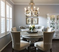 Beautiful Dining Room designs that are perfect for family meal time or for entertaining. Want this look?  Call Decorating Den Interiors by Julie Ann to set up your FREE consultation 651-504-2080. #Design #diningroom #home #decorating #decor