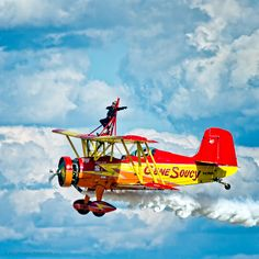 Wing Walker Aerobatics in Gene Soucy Plane Photo: © McLaren Photographic LLC#McLarenPhotographic #mclarenphotos #OshKosh http://www.mclarenphotographic.com