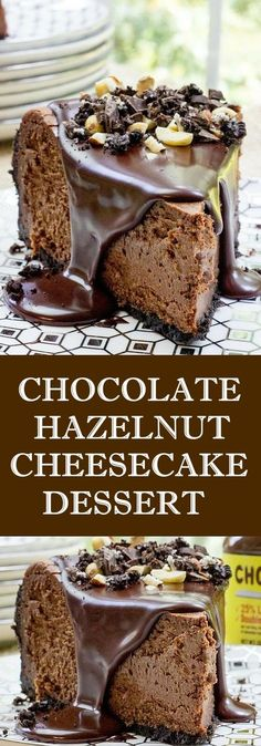 Chocolate Hazelnut Cheesecake Dessert