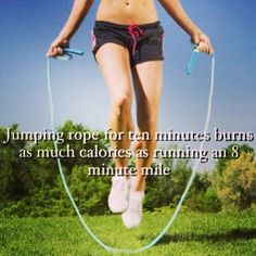 Jump rope for 10 minutes for your workout warmup routine - it's a calorie scorcher!