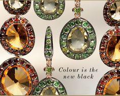 Annoushka Dusty Diamonds Earrings #Citrine #OliveQuartz