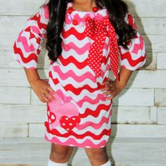Wavy heart - valentine's day dress