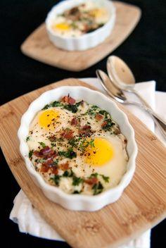 Baked eggs #eggs