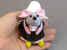 Dutch Mouse Ornament Artisan Felt Rat hamster mice cute adorable Dutch gift - Anouk the little Dutch mouse with clogs on by The House of Mouse #mouse #mice #rat #rodent #Cute #animal #adorable #ornament #collectable #etsy #etsyseller #etsystore #etsyshop #handmade #artisan #art  #funny #humour #fun #thehouseofmouse #houseofmouse #gift #dutch #holland #netherlands #thenetherlands #nederland #dutchmouse #culture