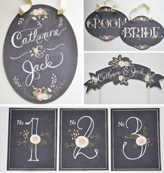 Chalkboard Inspired Signs Without The Chalk | Bridal Musings