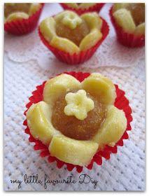 Recipe : Flower Shaped Pineapple Tart..黄梨花挞