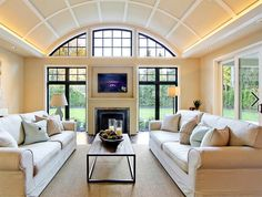 Interior of a quonset home