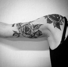 Dotwork Rose Tattoo on Arm by Tiago Oliveira