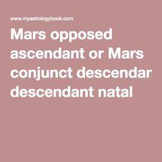 Mars opposed ascendant or Mars conjunct descendant natal
