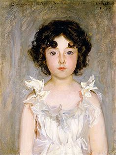 """Mademoiselle Jourdain,"" John Singer Sargent, 1889, oil on canvas, 23 5/8 x 17 11/16"", Sterling and Francine Clark Art Institute."