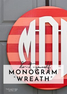 Not a day goes by that this monogram wreath doesn't make me smile, and I am so glad I persevered with my vision when the project didn't go quite as planned along the way. Read on to see exactly how this eye-popping door feature came together!