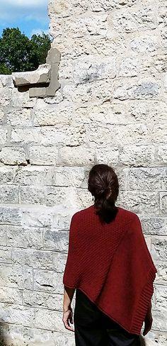 Ravelry: Stonewall Poncho pattern by Martha Wissing, knit in Berroco Elba