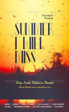 Summer I Will Miss Flyer Template