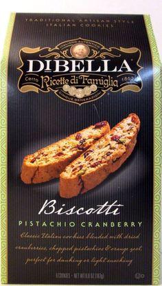 Dibella BISCOTTI ~ PISTACHIO CRANBERRY ~ MADE IN USA   #Dibella