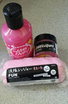 these Lush products. The lip scrub really taste like bubble gum yum!