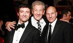Sir Ian McKellen, Sir Patrick Stewart, and Hugh Jackman