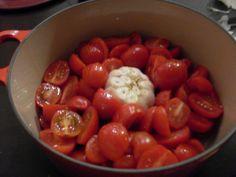 Cherry Tomato sauce with roasted garlic