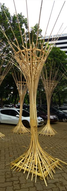 Outdoor Bamboo Lamp-post