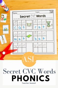 American Sign Language, Cvc Words, Cut And Paste, Family First, Word Families, Phonics, Teacher, Activities, Lettering