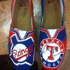 Made my own rangers shoes thanks to another pinners idea/pin! Can't wait to wear them to the game next week
