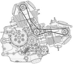 core  de moto (ducati monster 600)
