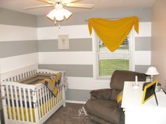 I desperately wanted striped walls in my nursery, but my OCD had to make sure they were done right. No baby wants a twitchy mommy every time...