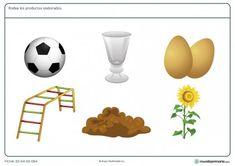 Ficha de productos elaborados para 1º de primaria