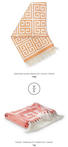 @jonathanadler Greek Key Alpaca Throw $295 Vs Target Threshold™ Greek Key Throw $25
