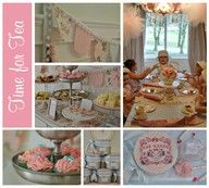 Pretty petite shabby chic tea party