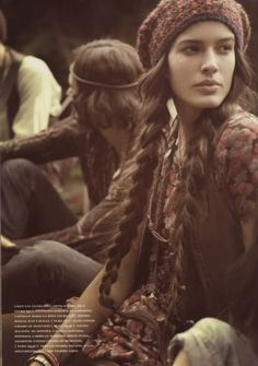 Hippie chic - really miss my long hair! But I bet some little girl who didn't have hair, has some now. (: