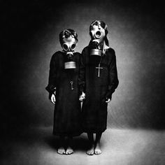 death Black and White Grunge favorite dark church children satan satanism evil different Lucifer gothic nun satanic gas mask black crosses gas masks
