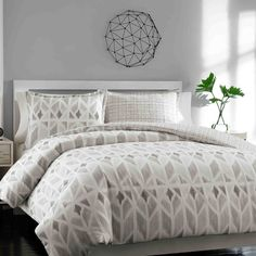 Features:  -Set includes duvet cover, 1 standard sham (Twin), 2 standard shams (Full/Queen) and 2 king shams (King).  -Material: 100% Cotton.  -150 Thread count.  -Duvet cover features button closures
