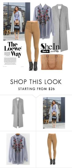 """""""SHEIN"""" by cptesla ❤ liked on Polyvore featuring Loewe, ADAM, WithChic and Chanel"""