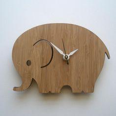 love this for a nursery #clock #elephant #nursery