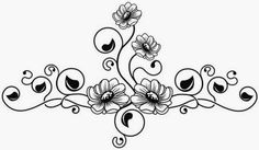 Aisies And Vine Tattoo Stencil 3 Click For Full Size