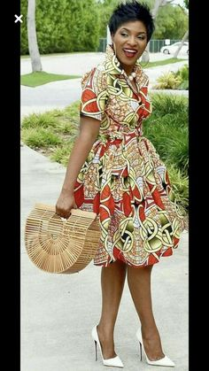 African clothing for women/ African prints dress for proms/ Ankara dress for weddings/ African shirtdress/Ankara - African fashion Short African Dresses, African Fashion Dresses, Ghanaian Fashion, African Dress Styles, Ankara Fashion, African Style Clothing, Nigerian Fashion, African Clothes, African Inspired Fashion