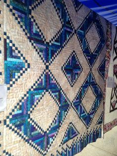 David Hahn's quilt, Sisters Log Cabin, made from the pattern in Judy Martin's book, Extraordinary Log Cabin Quilts. Fabulous colors!