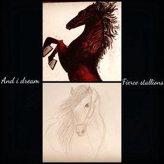 And i dream fierce Stallions... Wild in nature, free in spirit!