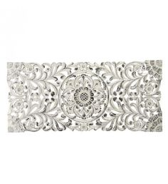 WOODEN WALL DECOR IN WHITE-SILVER COLOR 100X3X45