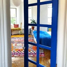 BLUE IS THE COOLEST COLOR, bright saturated blue paint color by Backdrop. A nod to cerulean blue found all of Italy. #brightblue #yveskleinblue #bluedoor Best Blue Paint Colors, Canvas Drop Cloths, Ugly To Pretty, Paint Samples, Interior Walls, Blue Walls, Colorful Interiors, Backdrops, Cool Stuff