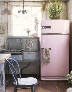 What is it about pink appliances that evoke fond memories? An era of innocence and having the whole future ahead.