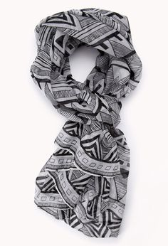 World Traveler Tribal Print Scarf | FOREVER21 It's never too late to go see the world #Accessories #Scarf #Printed