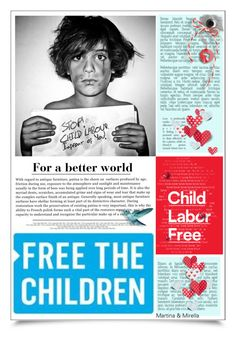 """""""Child Labour Free"""" by thewondersoffashion ❤ liked on Polyvore featuring art and childlabourfree"""