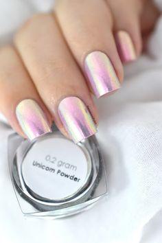 Bobby Loving Chrome Unicorn Powder [VIDEO TUTORIAL] - unicorn nails - chrome nail art