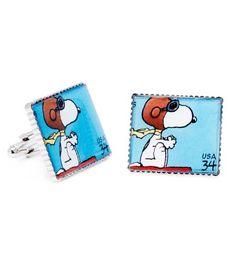 Cufflinks Inc - Comics Collection Peanuts Stamps Cufflinks