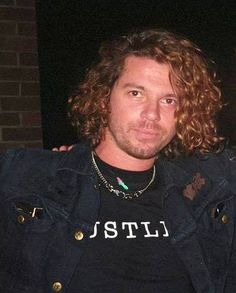 Michael Hutchence 'Get Out Of The House' tour, 1993. Wearing his 'Hustler' shirt…