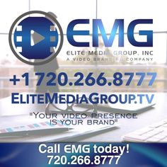 """EMG Promotional Ad format for Social Media """"Your video presence IS your brand"""""""