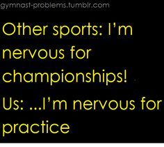 Other sports: Im nervous for championships! Volleyball Memes, Soccer Memes, Volleyball Quotes, Basketball Quotes, Sports Memes, Swimmer Quotes, Gymnastics Quotes, Soccer Problems, Swimmer Problems