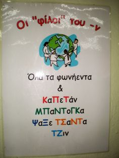 wall decoration for school Primary School, Elementary Schools, Learn Greek, Greek Language, Teaching Writing, Preschool Worksheets, Special Education, Kids And Parenting, Grammar
