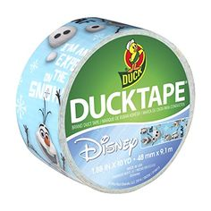Duck Brand 283422 Disney-Licensed Frozen featuring Olaf Duct Tape, 1.88 Inches x 10 Yards, Single Roll Duck